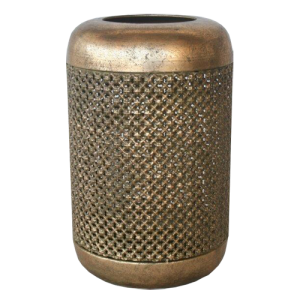 Gold Mesh Candle Holder