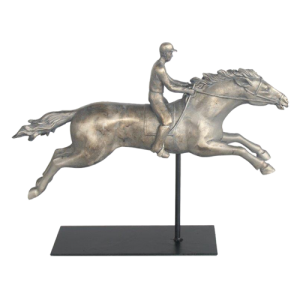 MAN ON HORSE SILVER ORNAMENT