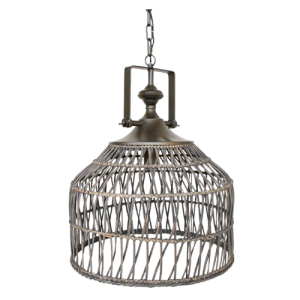 ELECTRIC RATTAN HANGING LIGHT