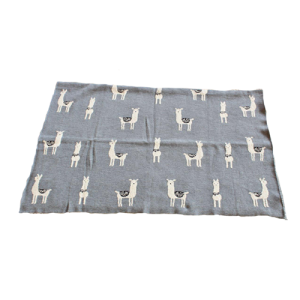 Grey Llama Throw