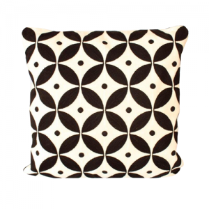 Black and White Geo Pattern Cushion