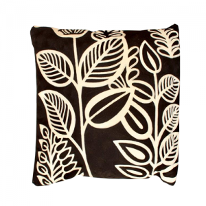 Cushion Black and White Leaf