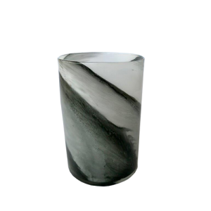 Smokey Black And Grey Vase