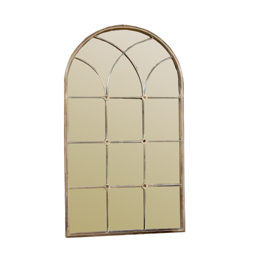 Metal Arched Window Pane