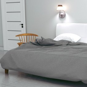 DUVET COVER SET STEEL GREY 100% COTTON PERCALE 200 THREAD COUNT OXFORD FLAP