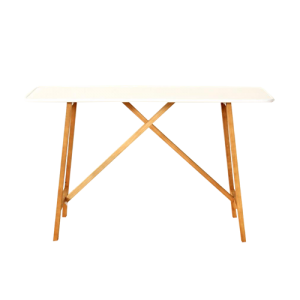 OFF WHITE ENAMEL SERVER WOODEN LEGS