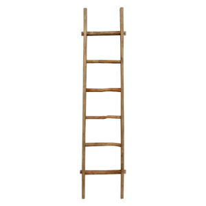 DECORATIVE WOODEN LADDER